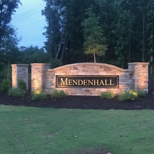 Mendenhall Entrance Sign
